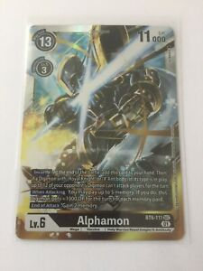 Digimon TCG  BT6-111  ALPHAMON   SECRET RARE