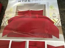 Hyde Park Bed Skirt King Size Red