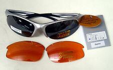 Aspex servir Gafas De Sol Lentes Intercambiables orange/tinted Uv400 Funda Incluida