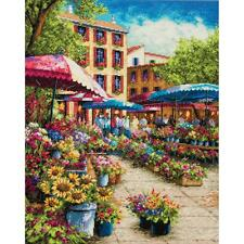 Counted Cross Stitch Kit PROVENCE MARKET Dimensions Gold Collection NEW Release