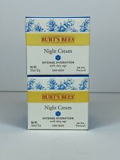 2 BURT'S BEES INTENSE HYDRATION NIGHT CREAM - 1.8oz EA - Fast Shipping