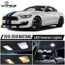 2015-2018 Ford Mustang White Interior LED Lights Package Kit