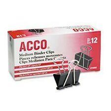 4 X Acco Medium Binder Clips Steel Wire 58 Cap 1 14 W Blacksilver Do
