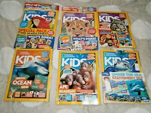 6 National Geographic Kids Magazines:  2020 &  2021 With Gifts