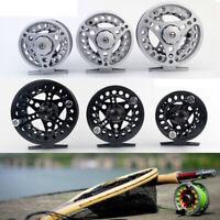 Fly Reel 1/2/3/4/5/6/7/8 WT Large Arbor Silver/Black Aluminum Fly Fishing Reels