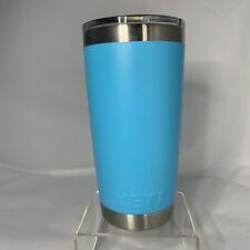 Yeti Rambler Tumbler 20 Oz Stainless Steel Blue Coffee Tea Camping Beverage