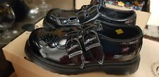 Dr Martens  8065 Mary Jane Twin Bar Black Patent Leather Shoes SIZE 10