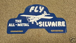 Luscombe Silvaire License Plate Topper 1940s - 1950s