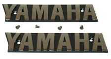 XS1100 Yamaha OEM Fuel Tank Chrome Badges-Emblem & Screws-XS11_F-G-SG-LG-H-SH-LH
