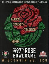 OFFICIAL 97th ROSE BOWL GAME PROGRAM, WISCONSIN vs. TCU, MINT CONDITION