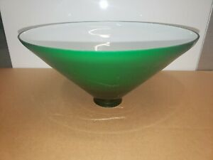 Antique Green Glass Lamp Shade/Cover/Globe