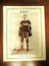 "GEORGES PATTERSON  1927/28  ""La Patrie""  MONTREAL CANADIANS #20  VERY  RARE"
