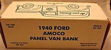 Ertl 1940 Ford Amoco Panel Van Bank With COA