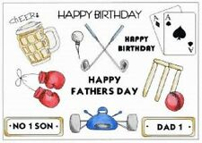 CREATIVE EXPRESSIONS U Mount Stamps MENS Beer Golf Box NO 1 SON DAD Fathers Day