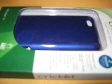 NEW Cricket Soft Touch SHIELD for HTC ONE V Hard case BLUE