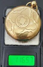 Solid Gold Ticks 116 grams #05-4 Antique England 51mm Pocket Watch 18K