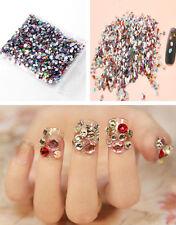 2000pcs Mixed Shape Rhinestones Acrylic Flat Back Gems Glitter Nail Decoration
