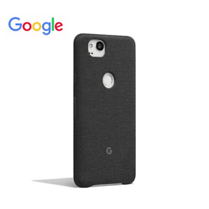 Genuine Official Google Pixel 2 Case Cover - Original Fabric Carbon Black Phone