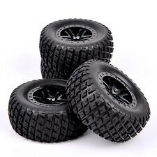 4Pcs Rubber 1:10 Short Course Truck Tires&Wheel For TRAXXAS SlASH Model Car 01&4