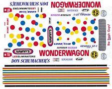 Don Schumacher's Wonder Wagon 1/24th - 1/25th  Scale Waterslide Decals