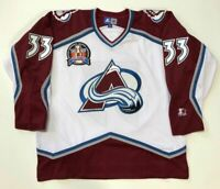 PATRICK ROY 1996 STANLEY CUP STARTER NHL COLORADO AVALANCHE JERSEY X-LARGE WHITE