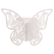 50Pcs Butterfly Napkin Ring Paper Holder Table Party Wedding Favors BanquetB KA