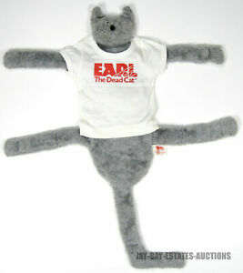 RARE VINTAGE EARL THE DEAD CAT T-SHIRT 1985 MAD DOG PROD. USA *(MISSING TONGUE)*