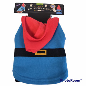 """Gnome Dog Costume Pet Halloween Hoodie Size X-Small 9""""-11"""" Pet Outfit New"""