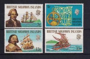 BRITISH SOLOMON ISLANDS 1971 Ships and Navigators Set MNH