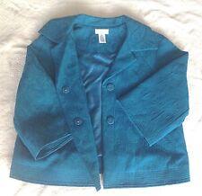 NEW Laura Ashley Petite Blue Dressy Blazer Jacket PM Petite Medium GORGEOUS NWOT
