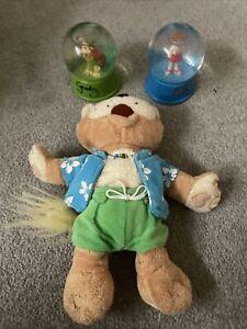 Havens Holiday Park Snow Globe + Soft Toy Bundle - Greedy + Polly Snow Globes
