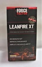 Force Factor Leanfire XT Thermogenic Fat Burner Weight Loss Supplement With Clear Energy 30 Count 818594013272