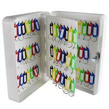 93 Key Lock Storage Box Organiser Cabinet Black Steel Safe Hooks Wall Mounted