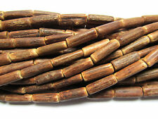 "30"" Coco Wood Tube Beads 17mm x 5mm"