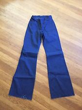 Nwt Seafarer Bell Bottom High Rise Jeans Vtg 29R unfinished hem midshipmen Usn 1