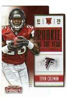 2015 Panini Contenders Rookie of the Year Contenders Gold RC /199 Tevin Coleman