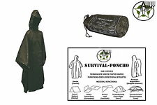 NEW Survival Rain poncho Rain cape rain poncho Olive Green OneSize