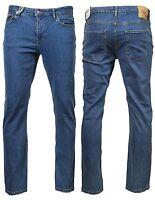 Men's LCJ Denim Straight Leg Jeans Regular Fit Stretch Stone Lc118 28-30-32 Leg