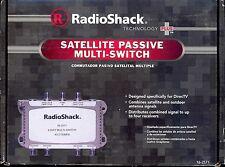 New RADIOSHACK Satellite Passive Multi-Switch 16-2571 / 160-2571