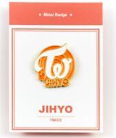 K-POP TWICE Official Goods JIHYO Metal bedge free shipping