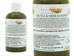 1bottle Liquid Nettle and Herb Shampoo, 150ml, 100% Natural SLS Free