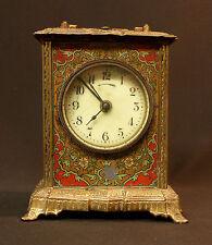 N1 1900 MUCHA superbe pendule pendulette Art nouveau bronze 17c1.7kg clock déco