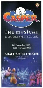 Casper The Friendly Ghost The Musical-A Spooky Spectacular Brochure 1999 Scarce