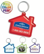 100 House Shaped Key Chains  Customized with Your Full Color Logo/ Message!
