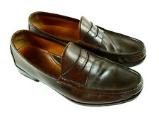 81d469eca43 Ralph Lauren Men s Leather Beefroll Penny Loafers 10.5 D Made in Italy Free  Ship