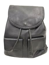 Giani Bernini Black Leather Drawstring Backpack
