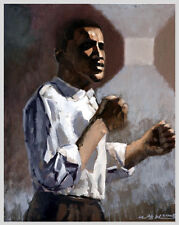 Barack Obama Portrait 3, Original Oil Painting, Signed, 22x28