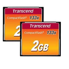 2 x Transcend CF 2GB 133x Compact Flash 2 GB Memory for Nikon, Canon SLR Cameras