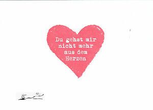 Postkarte: Du gehst mir nicht mehr aus dem Herzen