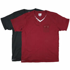 Cotton V Neck Basic Big & Tall T-Shirts for Men